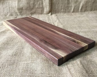 Black Walnut Charcuterie Board with built in handles