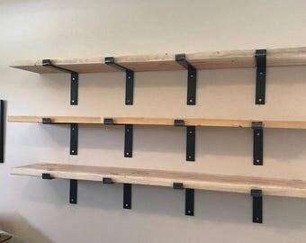 11 inch deep x 2 wide x 14 thick steel shelf bracket rustic