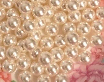 10 pcs Swarovski® 5818 10.0 mm Crystal White Pearl 650