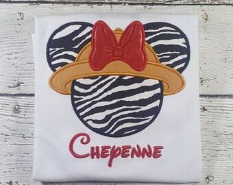 Safari Minnie Shirt, Disney Family Vacation Shirt, Animal Kingdom, Zebra