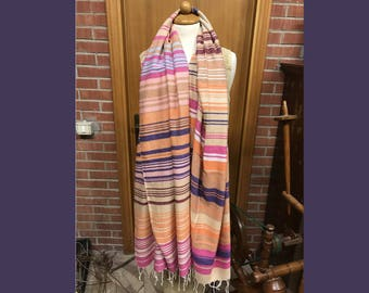Cashmere-silk shawl woven by hand