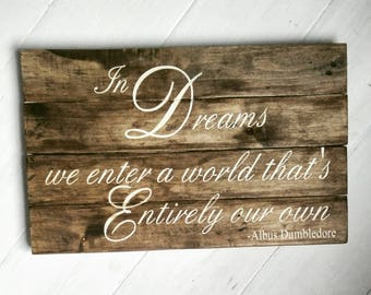 Harry Potter Pallet Sign made from reclaimed wood - Dumbledore Quote