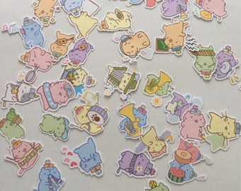 Mitchiri Neko cat stickers Series 2