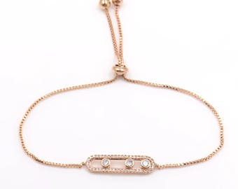 Rose Gold Plated Messika Style Bracelet
