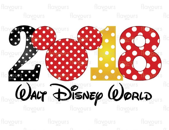 2018 Walt Disney World Family Vacation Disney Iron On