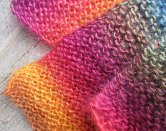 Hand Knit Child's Scarf