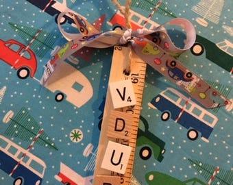 VDUB Scrabble Tile ornament/gift tag