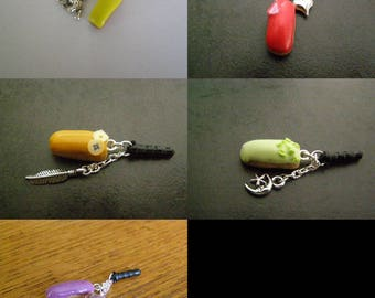 to choose from, plug, dust cover, mobile phone, lightning Fimo