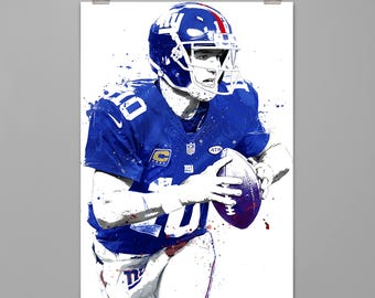 Eli Manning New York Giants Football art print Sports poster Large poster print Any room wall decor Contemporary wall art PRINT #0134