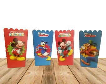 Party Snack Boxes 4 pack , Mickey Mouse Clubhouse