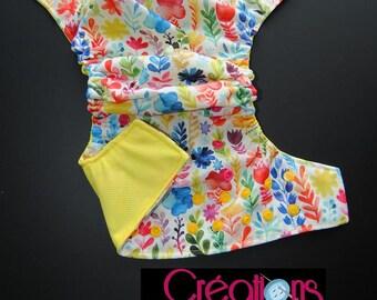 Flower Pocket diaper