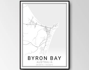 Byron Bay city map