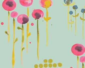 Poem Sage Poplin - Haiku 2 Collection - Monaluna Fabrics - Certified Organic Cotton - Organic Fabrics  - Modern Fabrics - Floral fabric