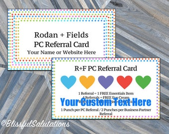 Rodan and Fields Referral Cards - Business Cards - Preferred Customer Cards - Instant Download - Editable Printables