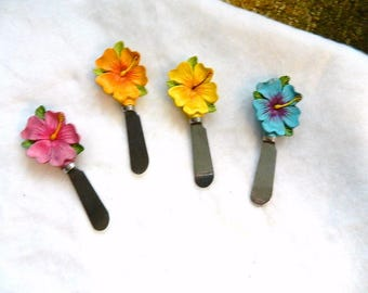 4 Stainless Steel FLOWER KNIVES