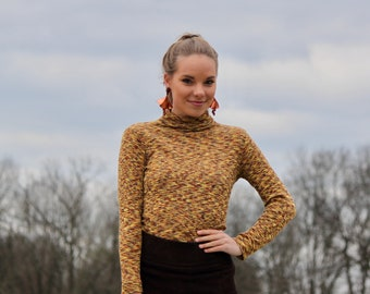Psychedelic Space Turtle, Turtleneck, 70s Sweater, Vintage Turtleneck, That 70s Show
