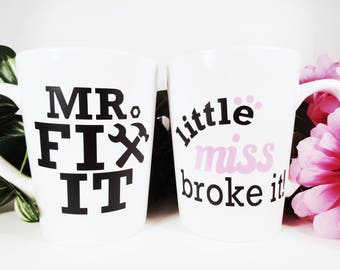Mr Fix It | Miss Broke It | Father Daughter | Gift Set | Fathers Day Gift | From Daughter | Handyman Dad | Handyman Gift | Dad Birthday Gift
