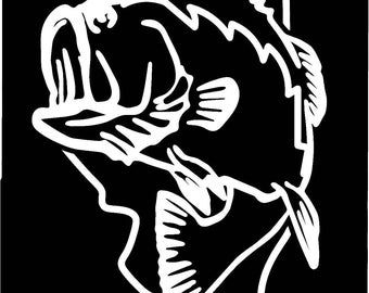 Illinois Largemouth Bass Fishing state outline window sticker decal