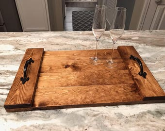 Wood Serving Tray, Ottoman Tray, Coffee Tray