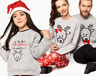Family Matching Tops Outfit Set Sweatshirts Girl
