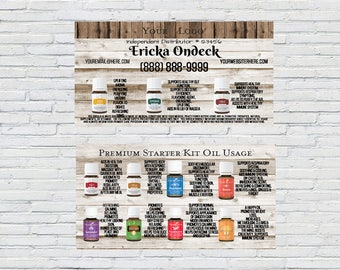 Everyday Oil Usage, Rustic Wood, Essential Oil, Business Card, Printable, Personalized, Independent Distributor, How to use oils card