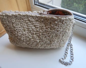 Crocheted bag on hand