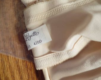 Two Vintage beige 42DD Lilyette satin finish bra 1980's era never worn One still has the hang tags style 833