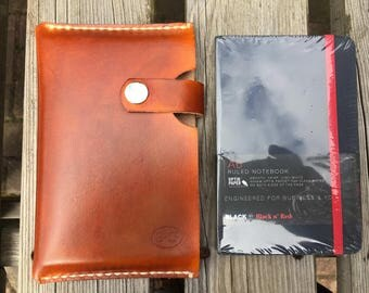 Leather notebook holder