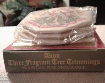 Avon's Three Fragrant Tree Trimmings.