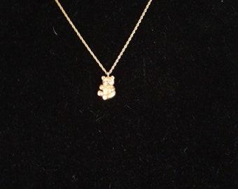 Avon Bear Necklace.