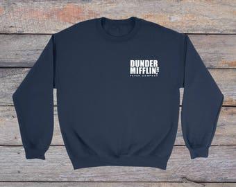 Dunder Mifflin Paper Co Sweatshirt, Dunder Mifflin shirt, The Office, The Office Sweater, Dwight Schrute, Michael Scott, Tumblr shirt
