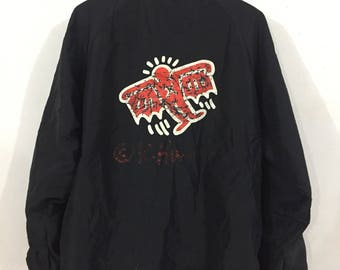 Vintage 90s Keith Haring Coach Jacket Large