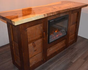 Home Bar / Office desk with fireplace