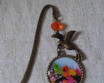 """bird of paradise multicolored"" bookmark"