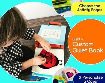 Custom Quiet Book for Baby Handmade by TinyFeats - Choose your Cover & Pages - Sensory Book - Montessori - Best Educational Toy for Babies