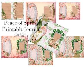 Spring Peace Printable Journal- link