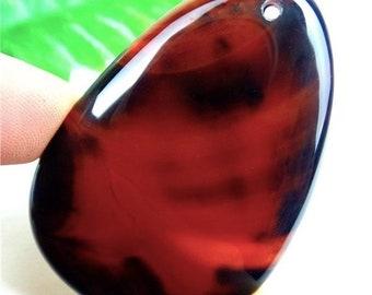 Excellent Unique Deep Red Sardonyx Onyx Agate Orange Black Onyx Agate Teardrop Pendant Bead