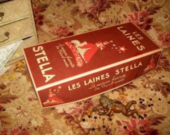 large and beautiful box old wool STELLA