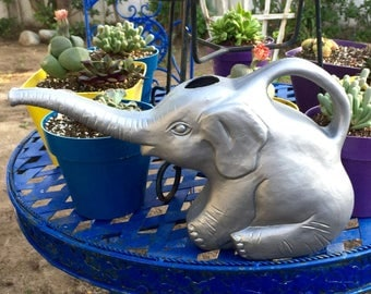 Elephant Watering Can - Unique Watering Cans, Cute Garden Supplies, Water for Elephants, Garden Decor, Patio Decor, Lawn and Garden, Jungle