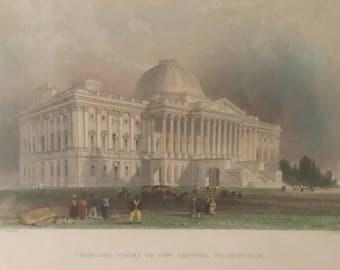 Washington Capitol 19th Century Print