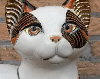 Ceramic calico cat wildlife