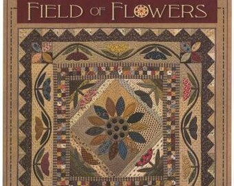 """Timeless Traditions Pattern """"Field of Flowers"""" Appliqued Wall Hanging 48 x 48"""""""