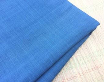 1 yard of Handspun Khadi Natural light Indigo Fabric / khadi / light indigo / yardage / fabric / indigo yardage / khadi yardage / handspun y
