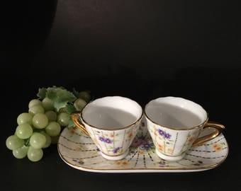 Vintage Miniature Limoges Porcelain Tea set