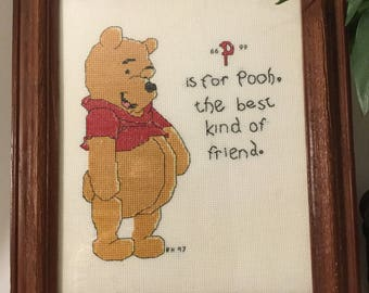 Winnie The Pooh crosstich embroidery Wall Decor