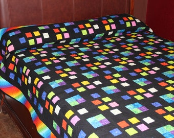 Little Boxes Queen Quilt