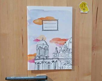 Notebook of the Berlin Cathedral Day or Night  (Berliner Dom)- Din a5 - Softcover plain