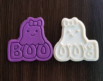 Boo Ghost Cookie Cutter and Stamp