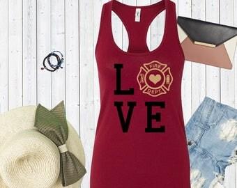Love Fire Department Tank Top. Custom Tanks. Funny Shirts. [C0210]