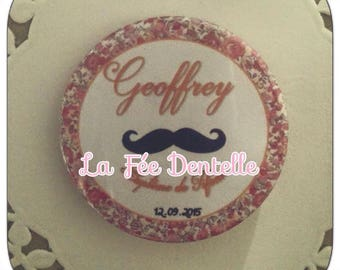 10 X badge personalised name + date and event 38mm